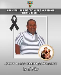 Jorge Luis Camacho Honores