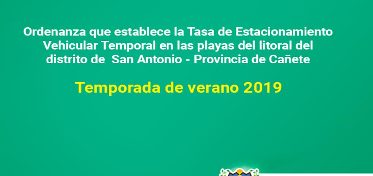 TEMPORADA VERANO 2019